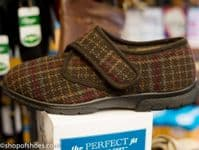 TARTAN DB Easyb extra wide extra deep 4E wide fit mens house shoe Brown tartan slipper. Orthotic house shoe recommended for diabetics and by chiropodists available from our shop in Whitchurch North Hampshire on the border of Berkshire outside Newbury, Winchester, Basingstoke and Andover in the picturesque town of Whitchurch Hampshire.